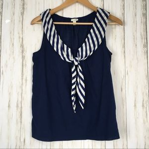 Odille Sailor Style Striped Nautical Tank Top